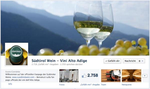 Conzepta, Facebook, Facebook-Seite kreieren, Agentur, Bozen, EOS, Export Organisation Südtirol, Südtirol Wein