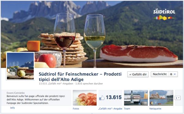 Conzepta, Facebook, Facebook-Seite kreieren, Agentur, Bozen, EOS, Export Organisation Südtirol, Südtirol für Feinschmecker