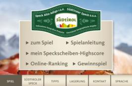 Südtiroler Speck Game Einstiegsscreen