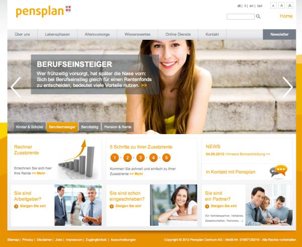 Conzepta, Konzepta, Design, Website, Pensplan,