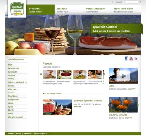 Website, Internetseite, Südtiroler Spezialitäten, Conzepta, regionale Produkte, regionale Spezialitäten